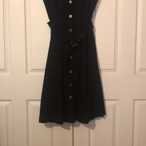 Large dockers black button up dress